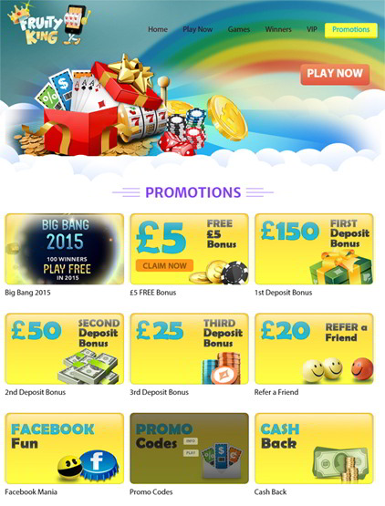 Amazing Promotions and Bonus Offers at Fruity King